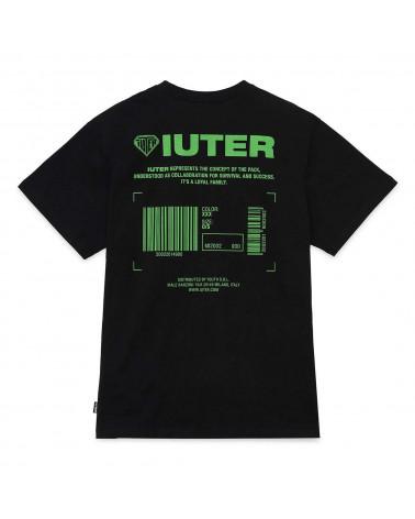 Iuter T-Shirt Info Tee Black/Green
