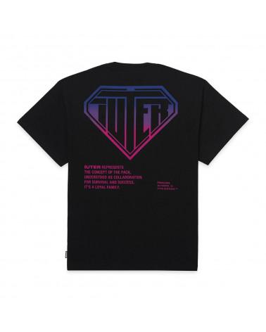 Iuter T-Shirt Double Logo Tee Black