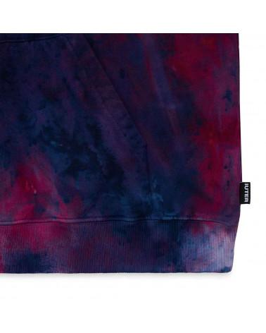 Iuter Sweatshirt Disaster Hoodie Tye Die Purple