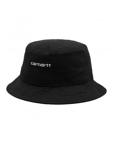 Carhartt Wip Cappello Script Bucket Hat Black/White