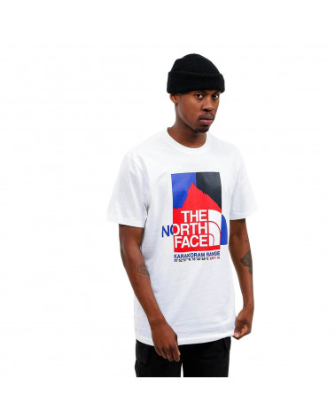 The North Face T-Shirt Karakoram Graphic TNF White