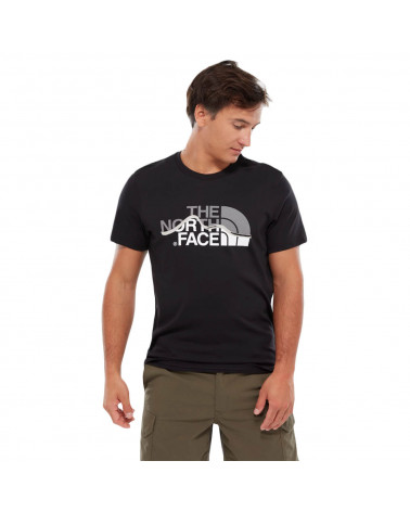 The North Face T-Shirt Mountain Line Black