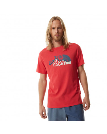 The North Face T-Shirt Mountain Line Rococco Red