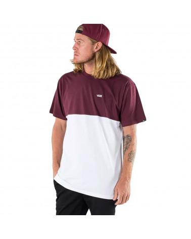 Vans T-Shirt Colorblock White/Port Royale