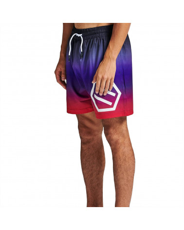 Dolly Noire Gradient Logo Swimshorts Black & Red