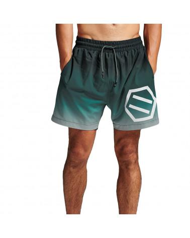 Dolly Noire Gradient Logo Swimshorts Black & Green