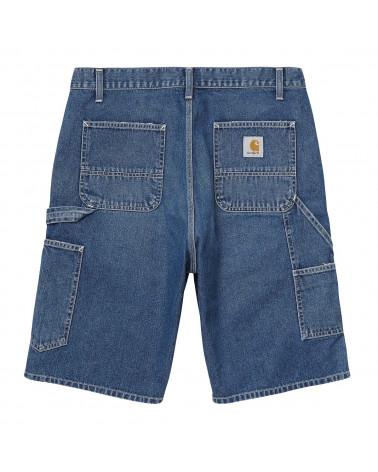 Carhartt Wip Pantaloncini Ruck Single Knee Short Blue Mid Worn Wash