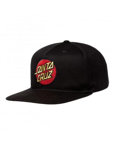 Santa Cruz Classic Dot Snapback Black