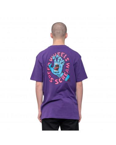 Santa Cruz Screaming Hand Scream T-Shirt Purple