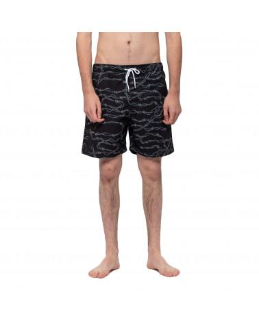 Santa Cruz Barbed Wire Swim Shorts Black