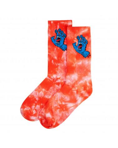 Santa Cruz Calze Screaming Hand Tie Dye Red Tie Dye