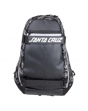 Santa Cruz Zaino Dispatch Skatepack Black Hands All Over