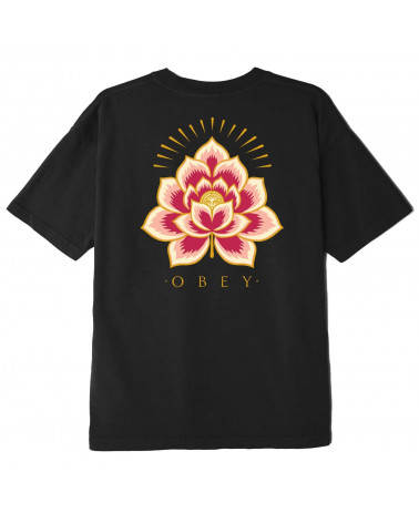 Obey Radiant Lotus Classic T-Shirt Black