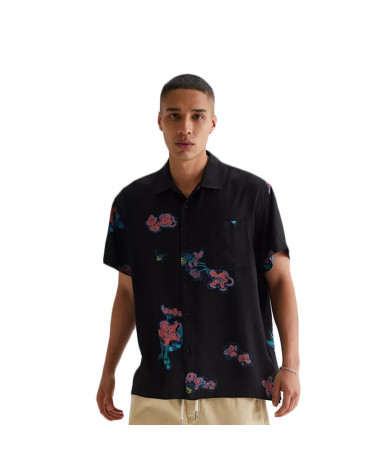 Obey Camicia Eden Woven Shirt Black Multi