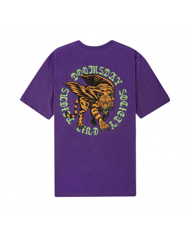 Doomsday Tiger T-Shirt Purple