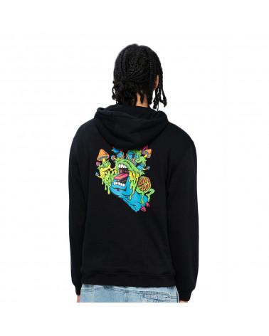 Santa Cruz Sweatshirt Toxic Hand Hoodie Black