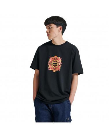 Dolly Noire T-Shirt Logo Maiolica Black/Red