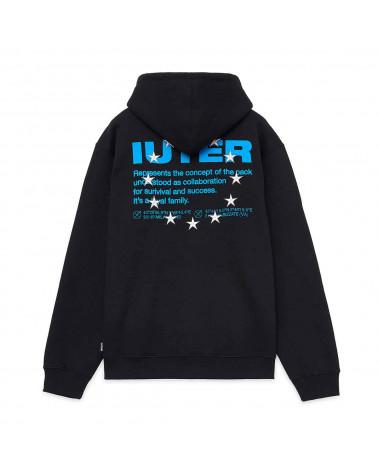 Iuter Sweatshirt Info Hoodie Black