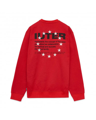 Iuter Sweatshirt Info Crewneck Red