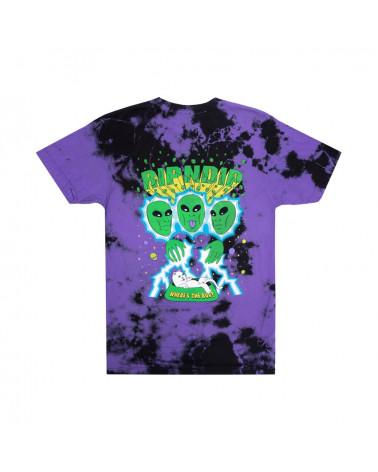 RIPNDIP T-Shirt Nebula Tee Purple & Black Dye