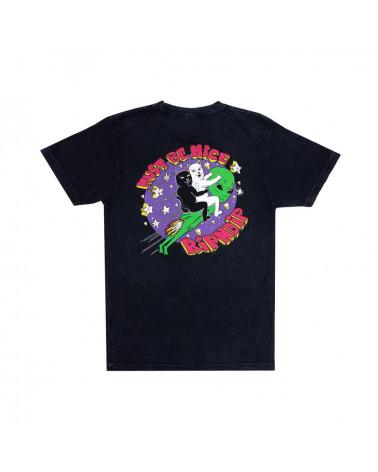 RIPNDIP T-Shirt Star Gazer Tee Black Mineral Wash