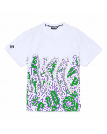 Octopus T-Shirt Letterz Tee White