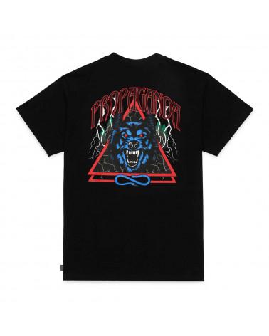 Propaganda T-Shirt Wolf Tee Black