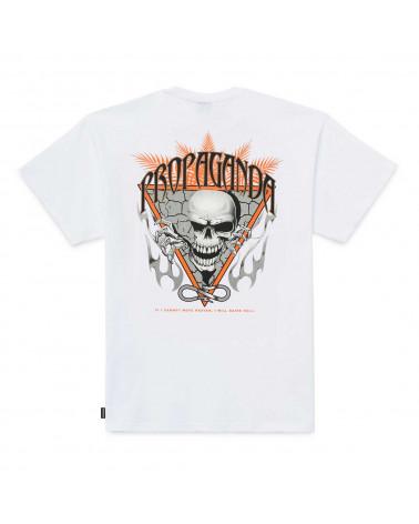 Propaganda T-Shirt Skeleton Tee White