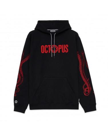 Octopus Felpa Outiline Logo Hoodie Red