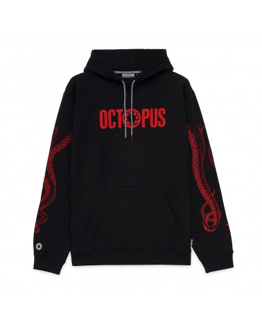 Octopus Sweatshirt Outiline Logo Hoodie Red