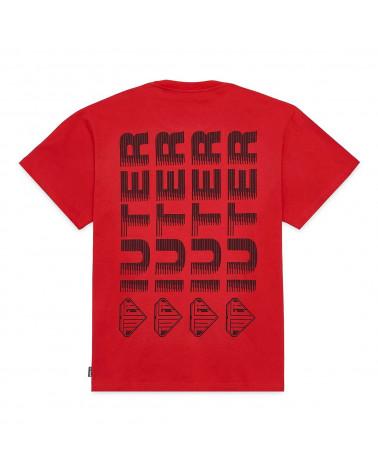 Iuter T-Shirt Fast Logo Tee Red
