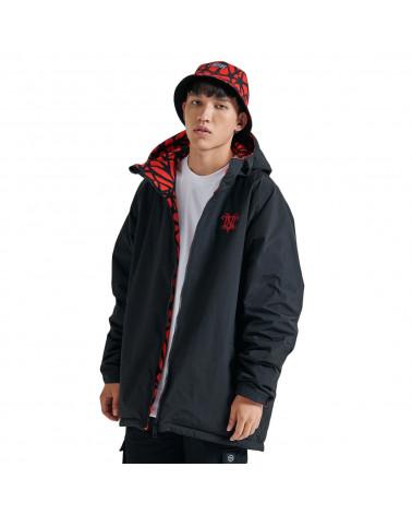 Dolly Noire Bosco Pattern Jacket Hoodie Zip