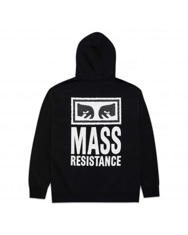 Obey Felpa Mass Resistance Premium Hooded Fleece Black