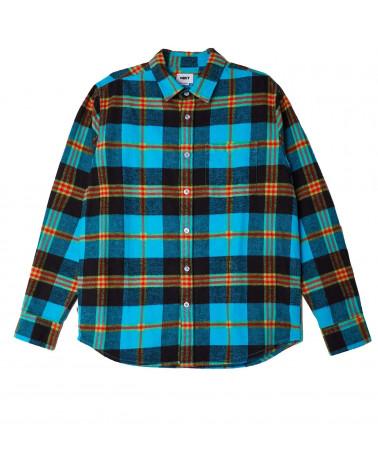 Obey Shirt Orchad Woven Flannel L/S Aqua Multi