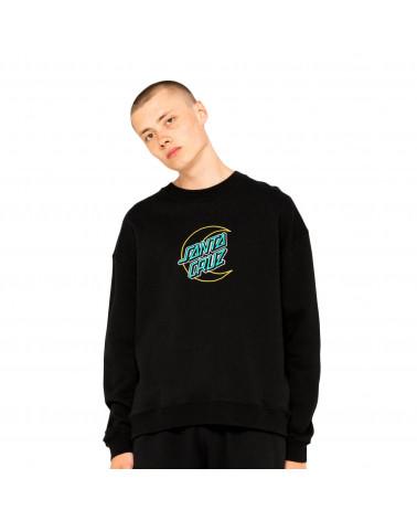 Santa Cruz Sweatshirt Empy Moon Dot Crew Black