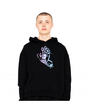 Santa Cruz Sweatshirt Outline Fade Hand Hood Black