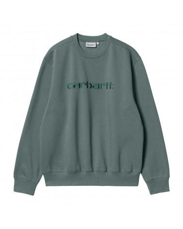 Carhartt Wip Felpa Carhartt Sweatshirt Eucalyptus/Frasier