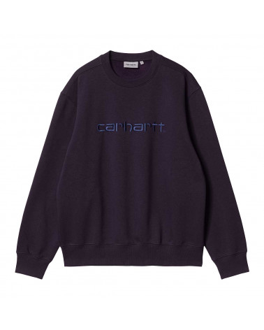 Carhartt Wip Felpa Carhartt Sweatshirt Dark Iris/Cold Viola