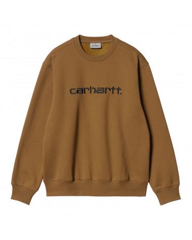 Carhartt Wip Felpa Carhartt Sweatshirt Hamilton Brown/Black