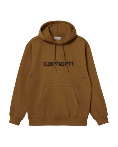 Carhartt Wip Felpa Hooded Carhartt Sweatshirt Hamilton Brown/Black