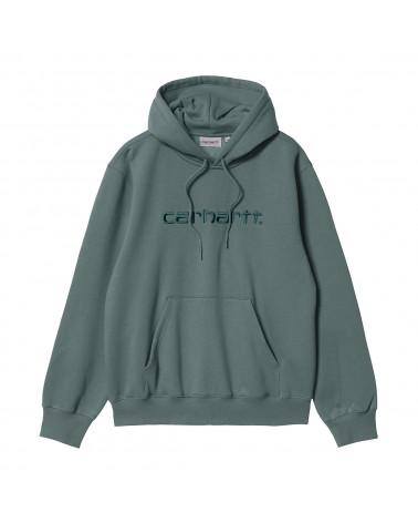 Carhartt Wip Felpa Hooded Carhartt Sweatshirt Eucalyptus/Frasier