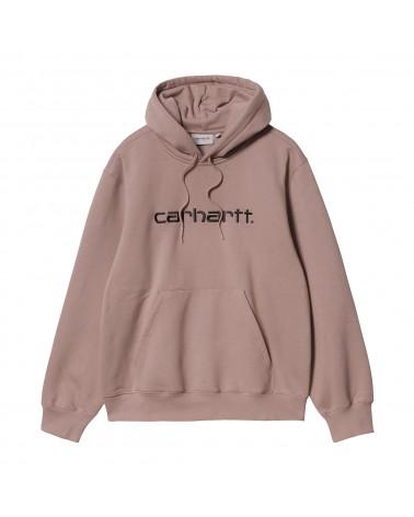 Carhartt Wip Felpa Hooded Carhartt Sweatshirt Earthy Pink/Black