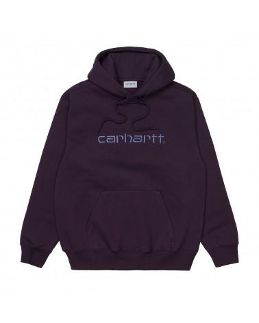 Carhartt Wip Felpa Hooded Carhartt Sweatshirt Dark Iris/Cold Viola