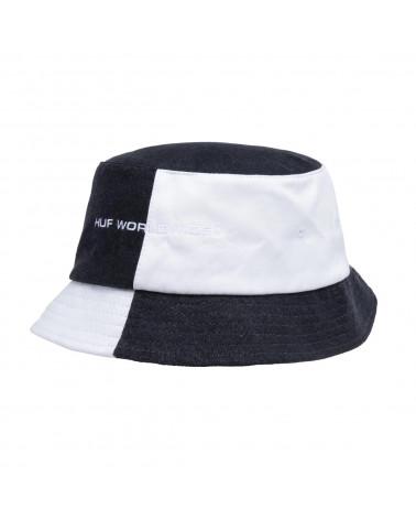 HUF Cappello Block Out Bucket Black/White