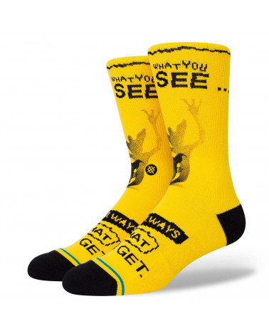 Stance What You Get Crew Sock Yellow