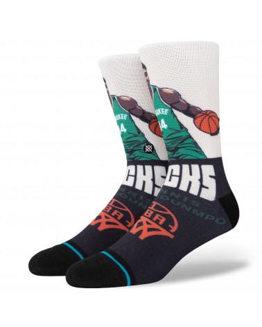 Stance Calze Graded Giannis Crew Sock Tan