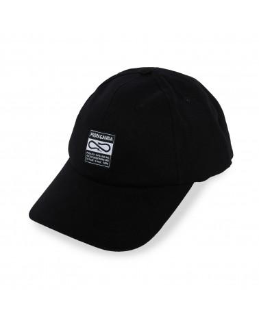 Propaganda Cappello Label Cap Black