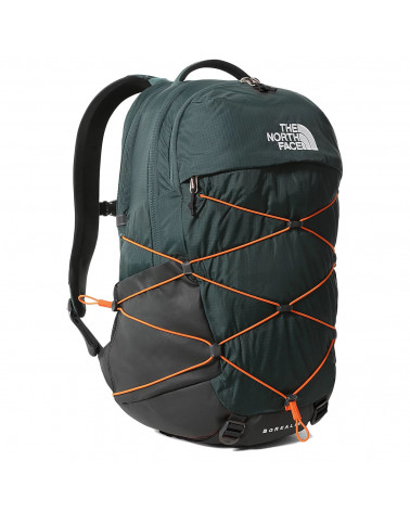 The Nort Face Backpack Borealis Dark Sage Green/Red Orange