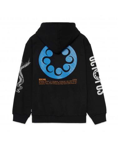 Octopus Felpa Logo Hoodie Black
