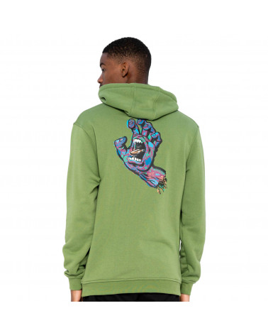 Santa Cruz Sweatshirt Growth Hand Hood Dill Green
